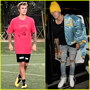 sports shoes dff52 03940 Justin Bieber Dons UCLA Gear Before Heading to Soccer Game ...