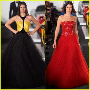 Kendall Jenner & Bella Hadid Walk Runway for Ralph Lauren's NYFW Show