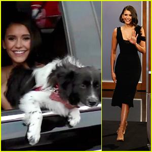 Nina Dobrev's Dog Maverick Wanted To Be On 'Jimmy Kimmel Live' With Her