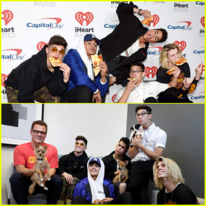 PRETTYMUCH Poses With Pizza, Cuddles With Puppies at iHeartRadio Music Festival