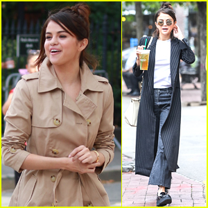 Selena Gomez is All Smiles on Set of Her New Movie