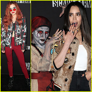 Bella Thorne & Sofia Carson Have a Spooky Night at Knott's Scary Farm!