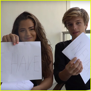 Alex Lange & Tessa Brooks Play Never Have I Ever - Watch Now!