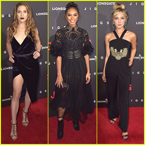 Allison Holker & Audrey Whitby Hit 'Jigsaw' Premiere in Hollywood