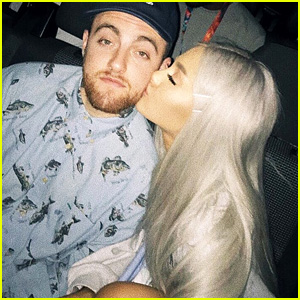 Ariana Grande Kisses Mac Miller in New Photo That Shows Off Her Grey Hair