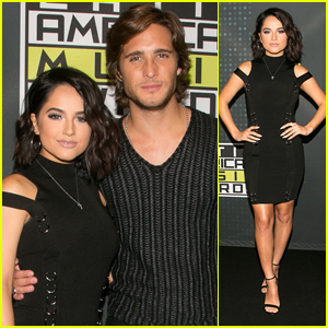 Becky G Stuns in Chic Black Dress Ahead of Latin AMAs Hosting Gig