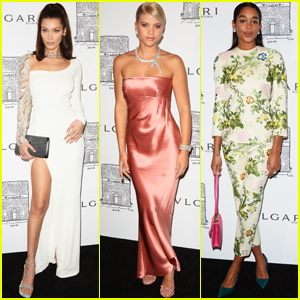 Bella Hadid, Sofia Richie & Laura Harrier Get Glam For Bulgari Party