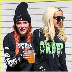 Bella Thorne Grabs Lunch with Girlfriend Tana Mongeau