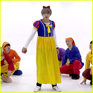a3e9ab197d5 BTS Get Into the Halloween Spirit Dressed as Snow White   The Seven Dwarfs  for Dance Practice - Watch Now!