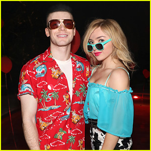 Peyton List Wears a Classic Movie Costume for Halloween with Cameron Monaghan!