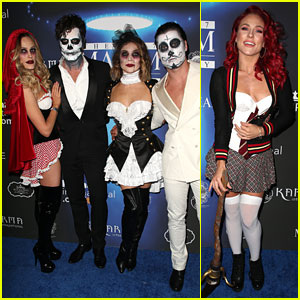 val chmerkovskiy jenna johnson are couples costume goals at maxims halloween party