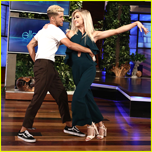 Jordan Fisher & Lindsay Arnold Recreate Their Samba on 'Ellen'
