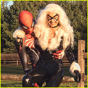 Gigi Hadid & Zayn Malik are Black Cat & Spider-Man for Halloween!