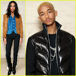 Jaden Smith & Laura Harrier Rep Young Hollywood at Louis Vuitton's Show in Paris