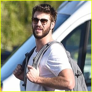 Liam Hemsworth Flaunts His Biceps on Set
