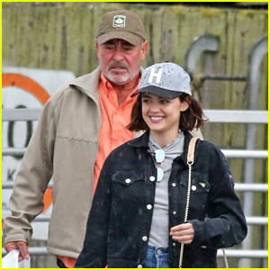 Lucy Hale Takes Dad Preston On Vancouver Tour