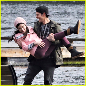 Lucy Hale & Jayson Blair Have Fun Filming 'Life Sentence' On The Dock
