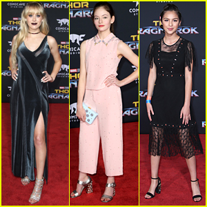 DeVore Ledridge & Mackenzie Foy Glam Up For 'Thor: Ragnarok' Premiere in Hollywood