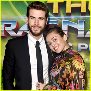Miley Cyrus Helps Liam Hemsworth Support Brother Chris at 'Thor: Ragnarok' Premiere!