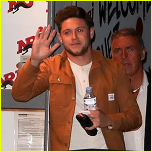 Niall Horan Happily Waves at Fans While Heading Into a Radio Interview in France!