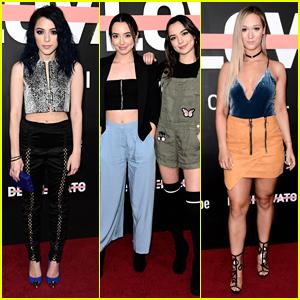 Niki DeMartino & Alisha Marie Hit 'Demi Lovato Simply Complicated' Premiere with Merrell Twins