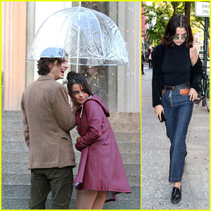 Selena Gomez Gets Wet at the Met While Filming Movie in NYC!