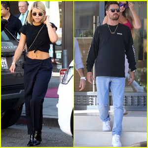 Sofia Richie & Scott Disick Meet Up With Pals For Some Shopping