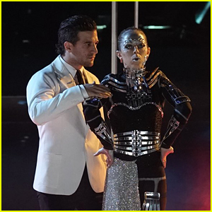 Mark Ballas Goes Mad Scientist With Lindsey Stirling on DWTS' Night at the Movies (Video)