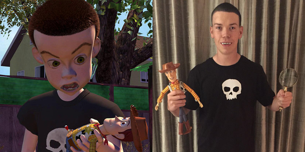 Will Poulter Dressed Up As Sid From Toy Story For Halloween To