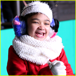 Angelica Hale Rehearses For Macy's 2017 Thanksgiving Day Parade in NYC