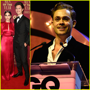 Ansel Elgort & Dacre Montgomery Suit Up Sharp For GQ Men of the Year Awards in Australia