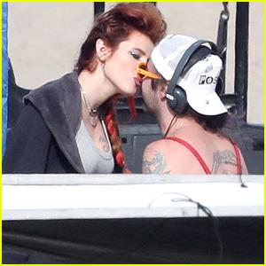 Bella Thorne Kisses Boyfriend Mod Sun on 'Famous in Love' Set