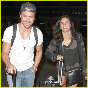 Derek Hough & Hayley Erbert Head Back to LA After Cabo San Lucas Getaway