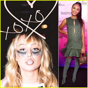 DeVore Ledridge Wears Glitter Under Her Eyes at Boohoo's LA Pop-up Store Launch Party