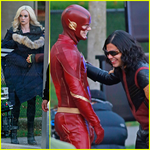 Danielle Panabaker Brings Killer Frost Out To Play While Filming 'The Flash'