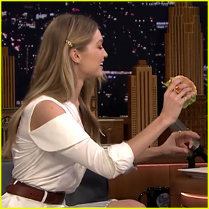 Gigi Hadid & Jimmy Fallon Eat Delicious Burgers (Again!) on 'Tonight Show' - Watch Now!