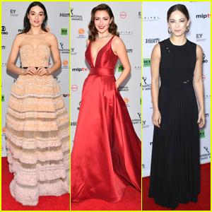 Crystal Reed Joins Kristin Kreuk & Italia Ricci at International Emmy Awards 2017