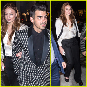 Joe Jonas & Sophie Turner Arrive in Style for Their Engagement Dinner!