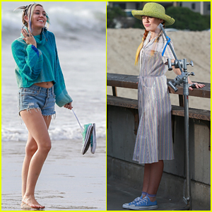 Miley Cyrus is All Smiles (& Silly Faces) at Converse Shoot!