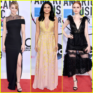 'Riverdale' Stars Lili Reinhart, Camila Mendes & Madelaine Petsch Hit AMAs 2017 Together