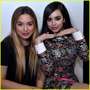 Sofia Carson Supports Sister Paulina at Disney x Kiehl's Feeding America Holiday Launch