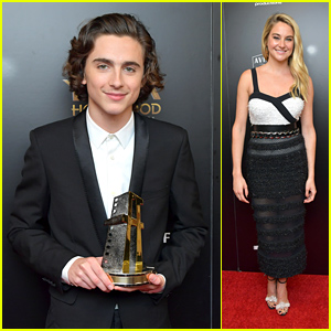 Timothee Chalamet & Shailene Woodley Look So Chic at Hollywood Film Awards 2017!