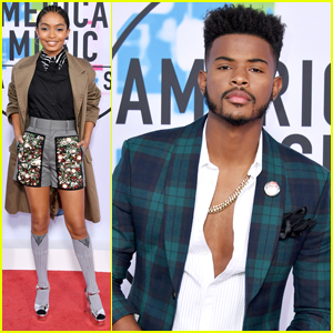 Yara Shahidi & 'grown-ish' Co-Star Trevor Jackson Hit AMAs 2017