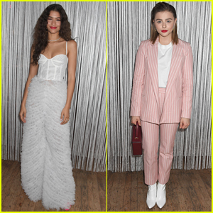 Zendaya & Chloe Moretz Go High Fashion for Jewelry Event in NYC