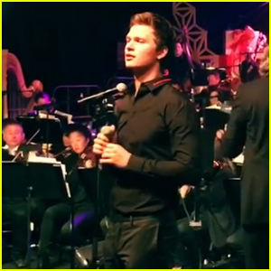 ansel elgort sings have yourself a merry little christmas at holiday bash watch now