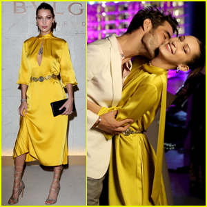 Bella Hadid Gets a Smooch in Dubai!