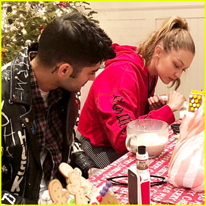 Gigi Hadid & Zayn Malik Build Gingerbread Houses on Christmas Eve!