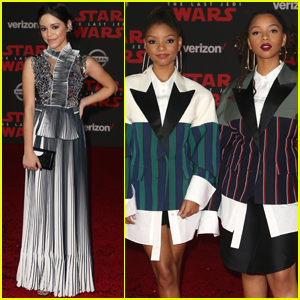 Jenna Ortega Stuns on the 'Star Wars: The Last Jedi' Red Carpet