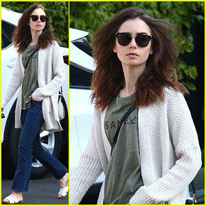 Lily Collins Says Goodbye To Los Angeles Traffic