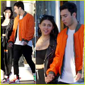 Madison Beer & Boyfriend Zack Bia Wear Matching Shoes at Lunch